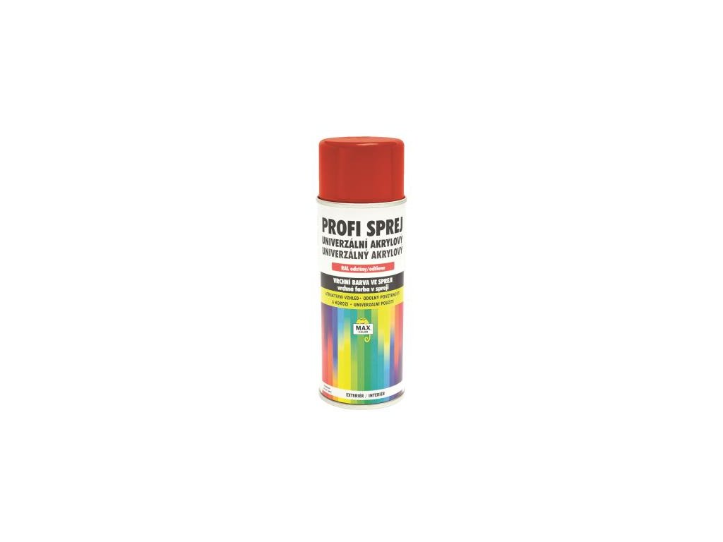 SPREJ PROFI akrylový lesklý RAL 3020 červena dopravná 400ml