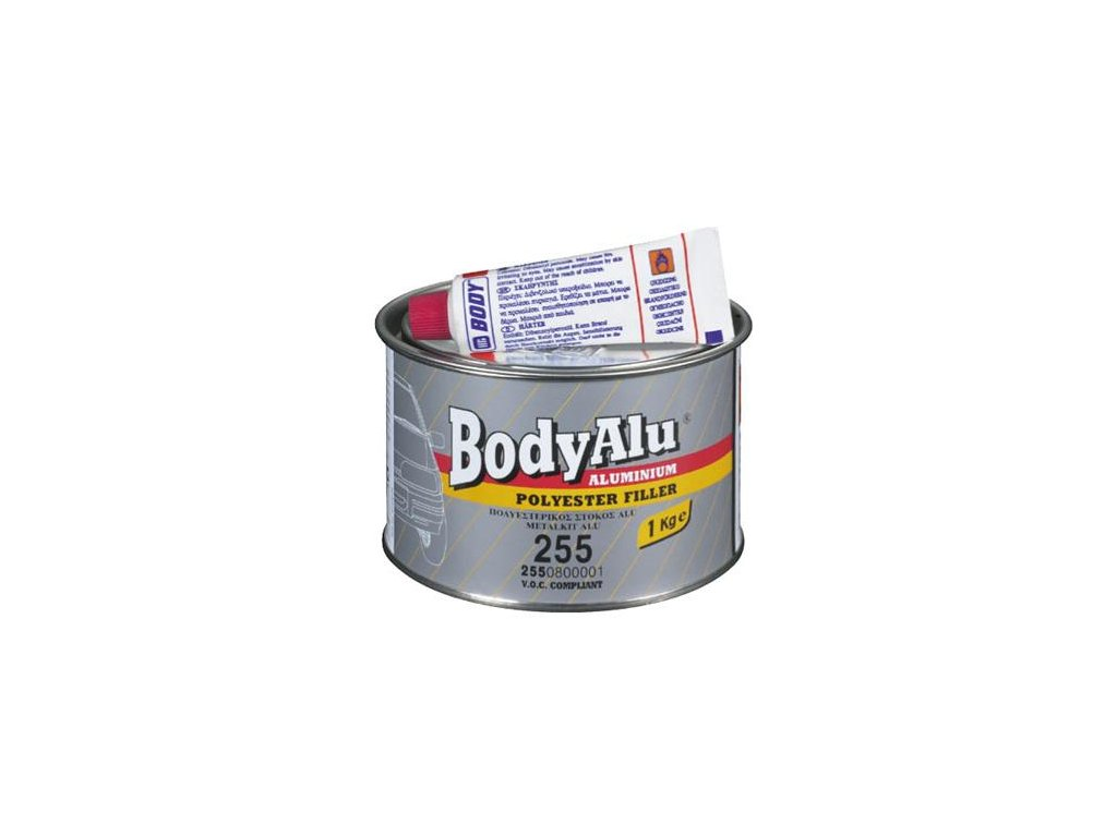 BODY Alu-2K polyesterový hliníkový tmel strieborný 1kg
