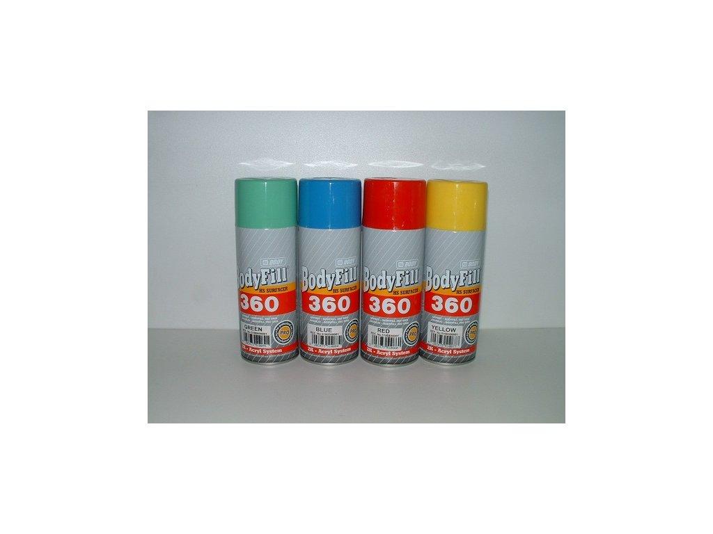 BODYFill 360 Spray 2K plniaci tmel žltý 400ml