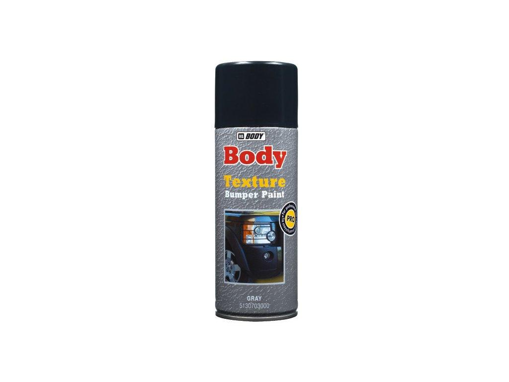BODY Bumper paint TEXTURE SPRAY čierna krupkovaná farba na plast 400ml