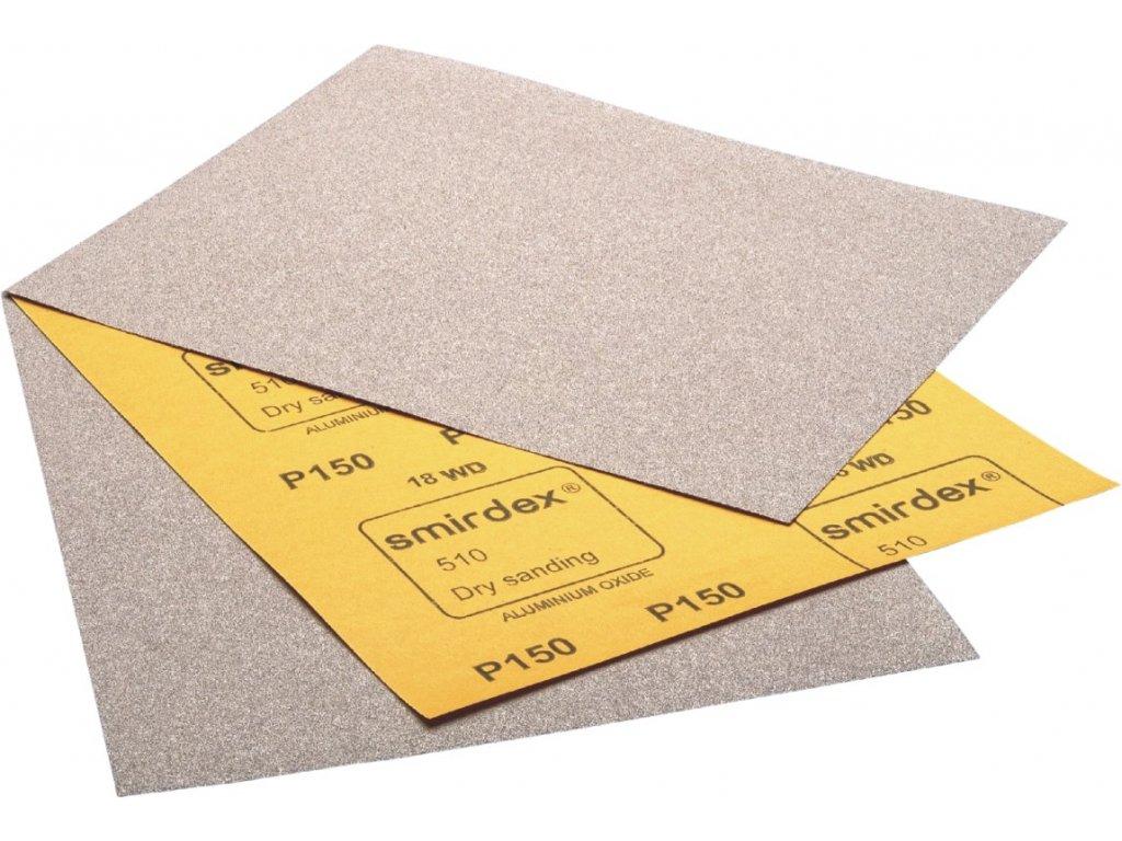 Brúsny papier rada 510 na brúsenie za sucha hárok 230mm x 280 mm bez dier