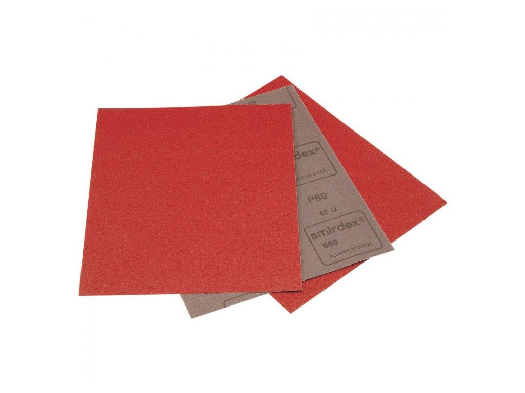 Brúsne plátno 650 rada na brúsenie za sucha hárok 230 mm x 280 mm