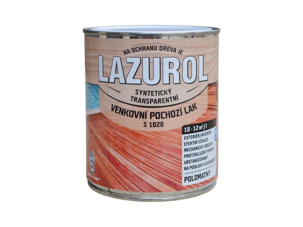 LAZUROL Lak vonkajší podlahový 4L S1020