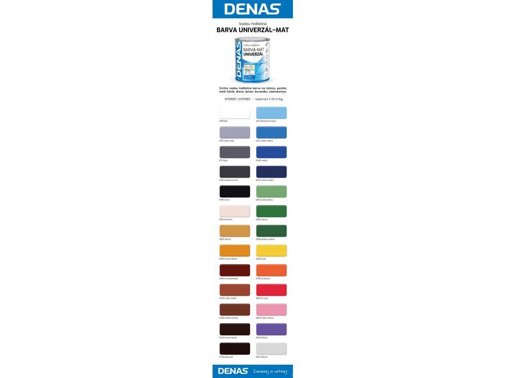 DENAS univerzál MAT 0,7kg podla vzorkovníka
