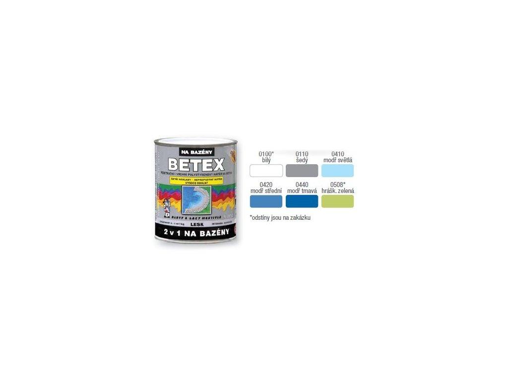 Betex 2/1 na bazény S2852 0440 4kg tmavo modra