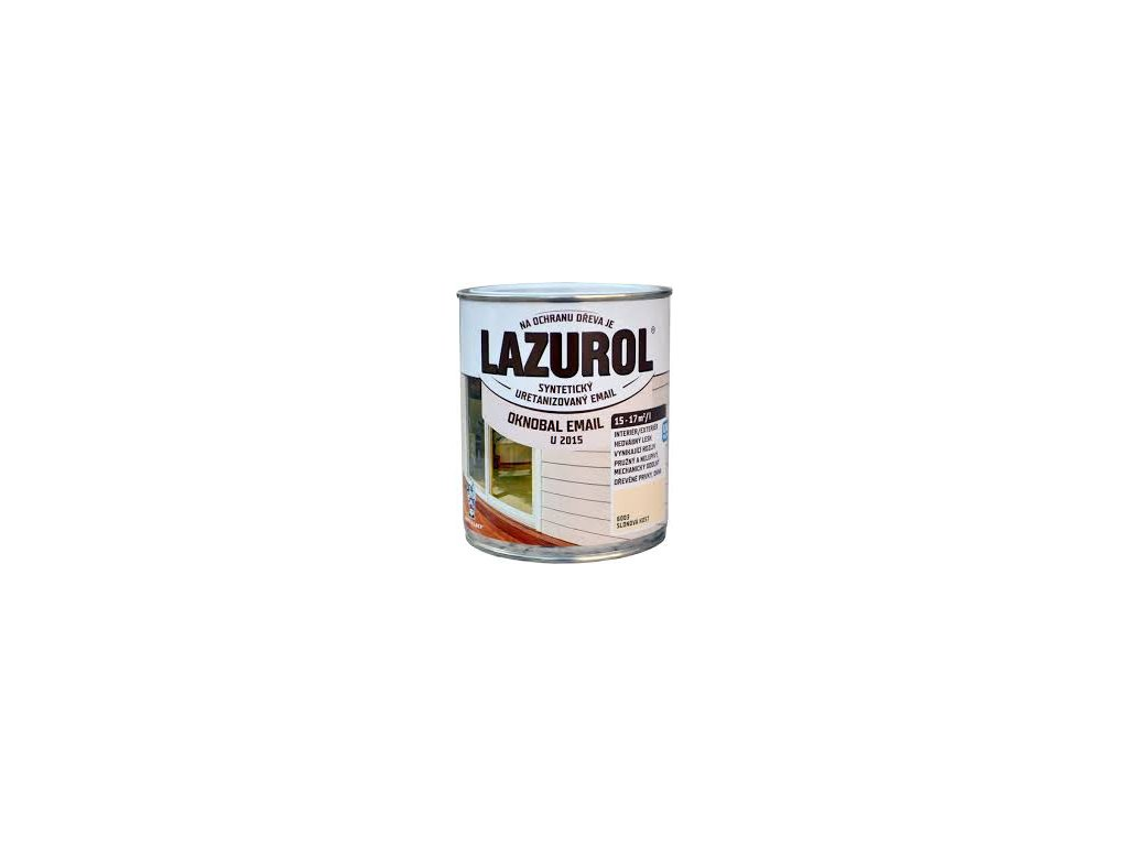 Lazurol oknobal U2015 email 0,6l 1000 biely