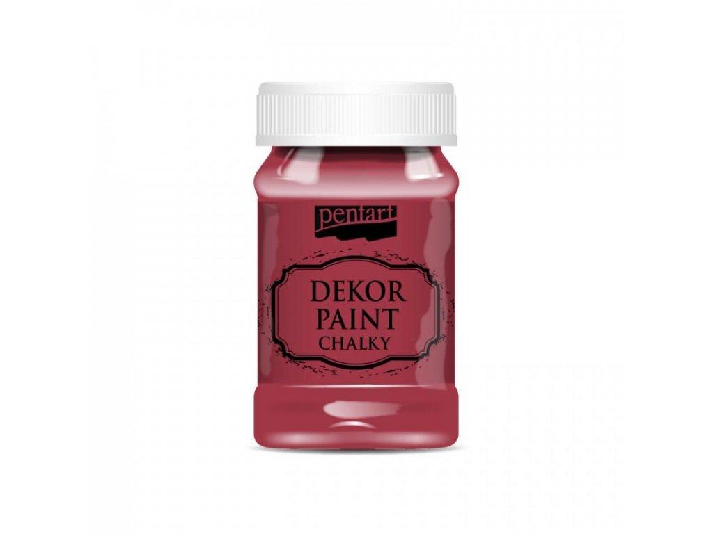 dekor paint soft 100 ml kardinalska cervena