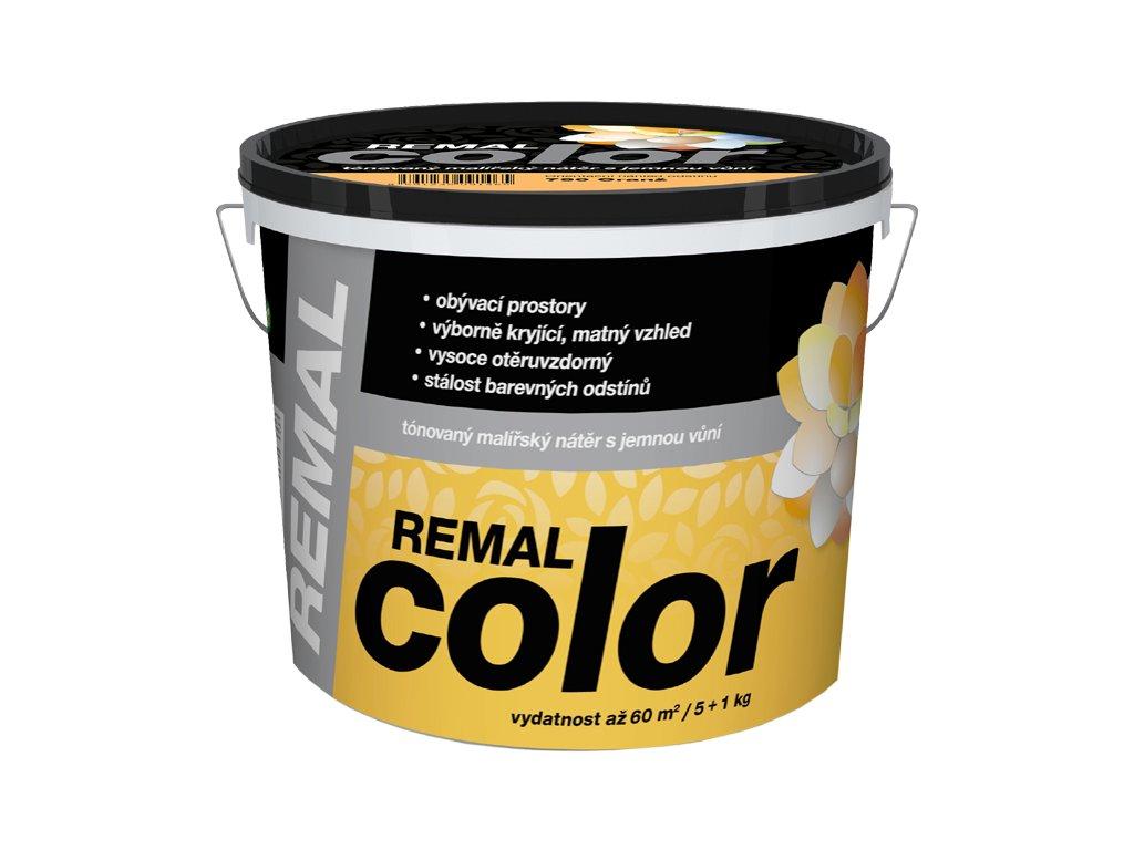 REMAL COLOR- natónovaná vnútorná farba 2kg+ 0,5 kg mix farieb NOVÝ