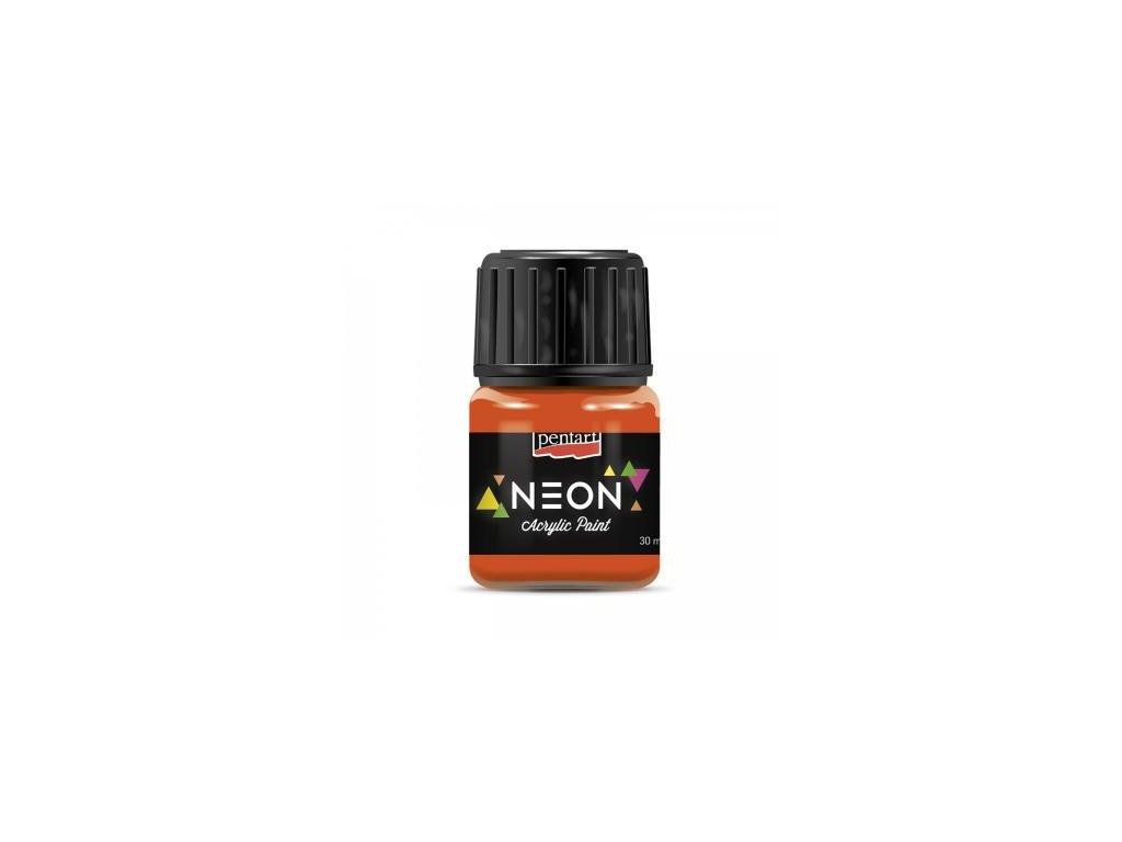 akrylova farba 30 ml neonova oranzova