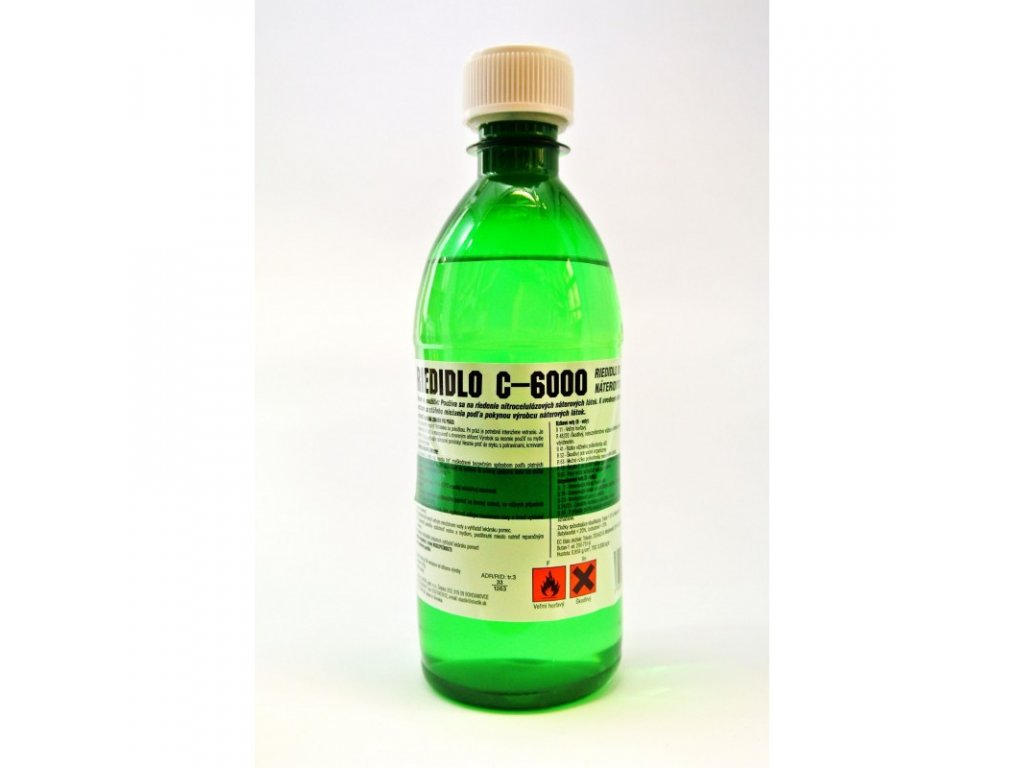Riedidlo C 6000 (acetón) fľaša 370g ELASTIC