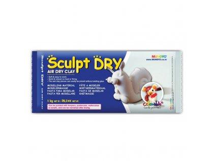 Samotvrdnúca hlina Sculpt Dry 1 kg biela