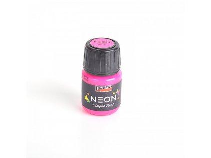 Akrylová farba 30 ml, neónová ružová 16478