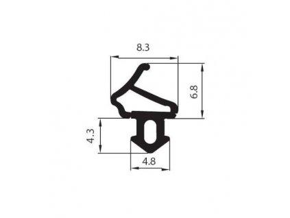 Tesnenie univerzálne do plastových okien / 6 METROV  9091101