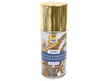 Max color vianočny a dekoračný sprej zlaty 150ml