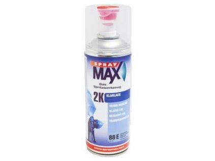 Sprej MAX 2K Bezfarebný dvojzložkový lak 400 ml lesklý 680 061