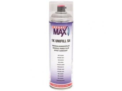 Sprej MAX 1K UNIFILL S4 plnič univerzálny základový 500 ml šedý stredný 680 411