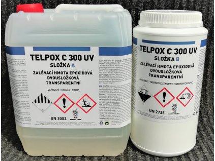 Telpox C300 UV sada 7kg, číra živica 4,93 g + tužidlo 2,07 g