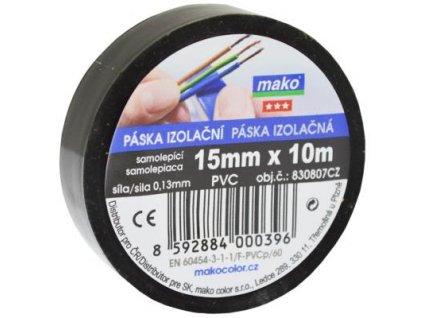 Paska izolacna pvc cierna 15mm/10m komfort 830807
