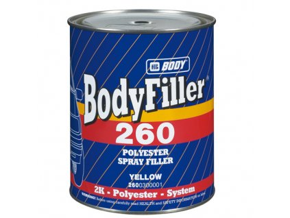 BODY Filler 260  2K polyesterový plniaci tmel žltý 1l