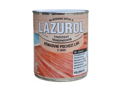 LAZUROL Lak vonkajší podlahový 0,75L S1020