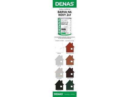 DENAS 2v1 0100 biely 0,7kg pololesk