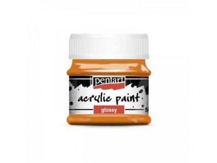 akrylova farba leskla 50 ml pomarancova