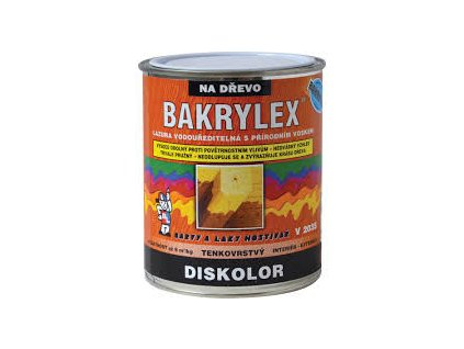 Bakrylex Diskolor Lazúra vodouriediteľná na drevo 2.5kg  podľa vzorkovníka