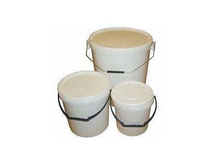 Vedro plastové 3kg biele+viečko gulaté
