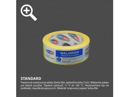 Páska maliarska krepová 38mm x 50m žltá INMAL 0315