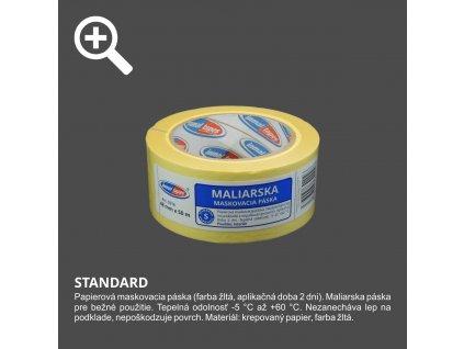 Páska maliarska krepová 48 x 50m žltá INMAL 0316