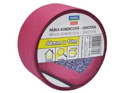 Páska kobercova textilna nosic 48mm*10m bordo
