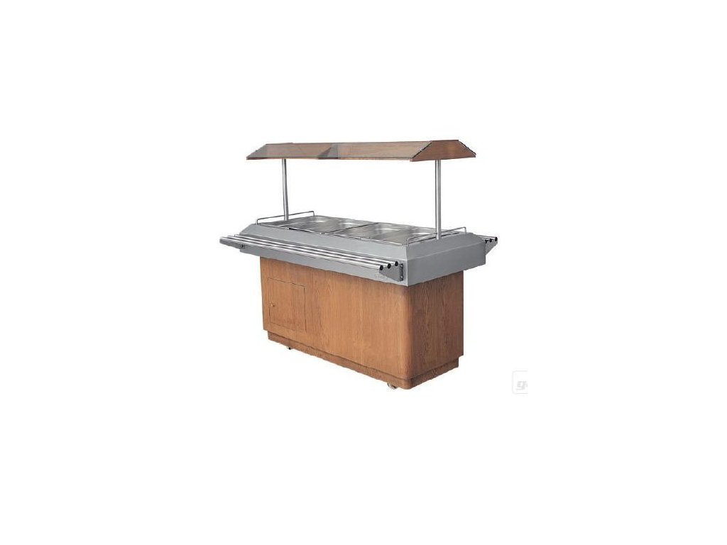 Vyhřívaný salátový bar HOT 4xGN1/1