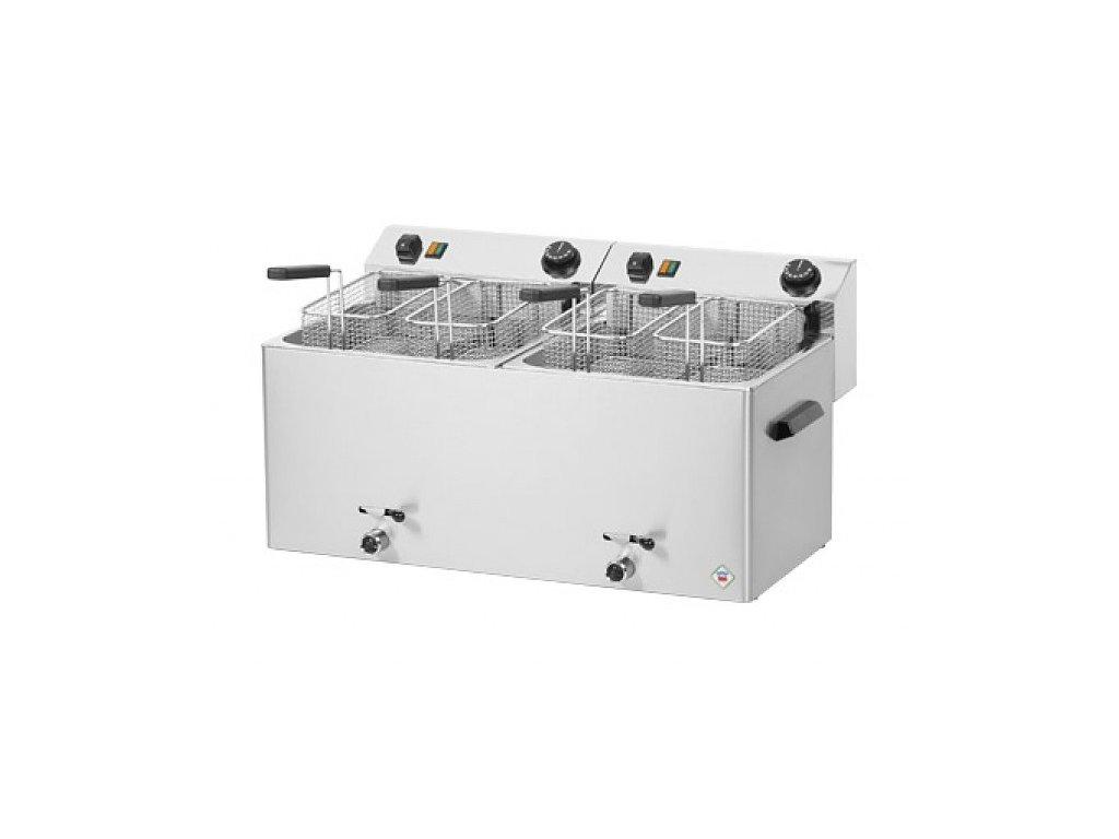 Fritéza elektrická 10+10 litrů s výpustí FE-1010T - profi