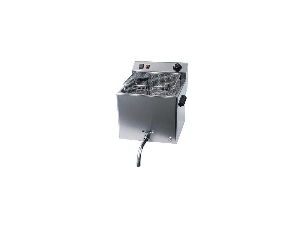 Fritéza elektrická 10 litrů s výpustí, FE-10T - profi