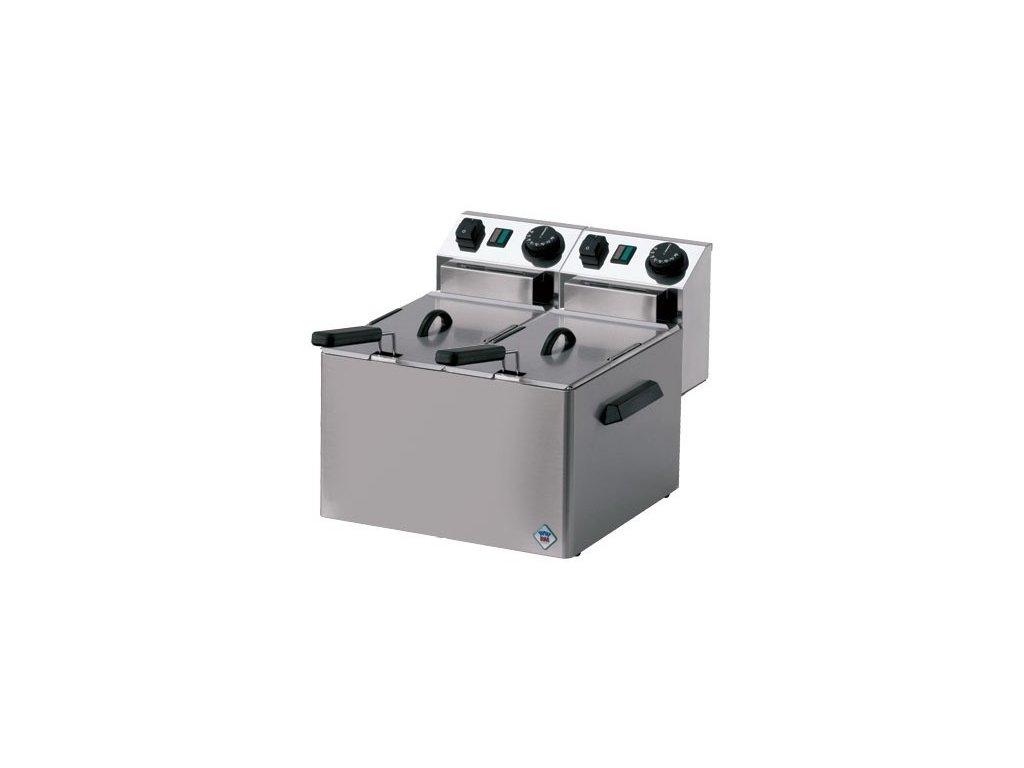 Fritéza elektrická dvojitá 4+4 litry, 2x3kW, FE - 44S - profi