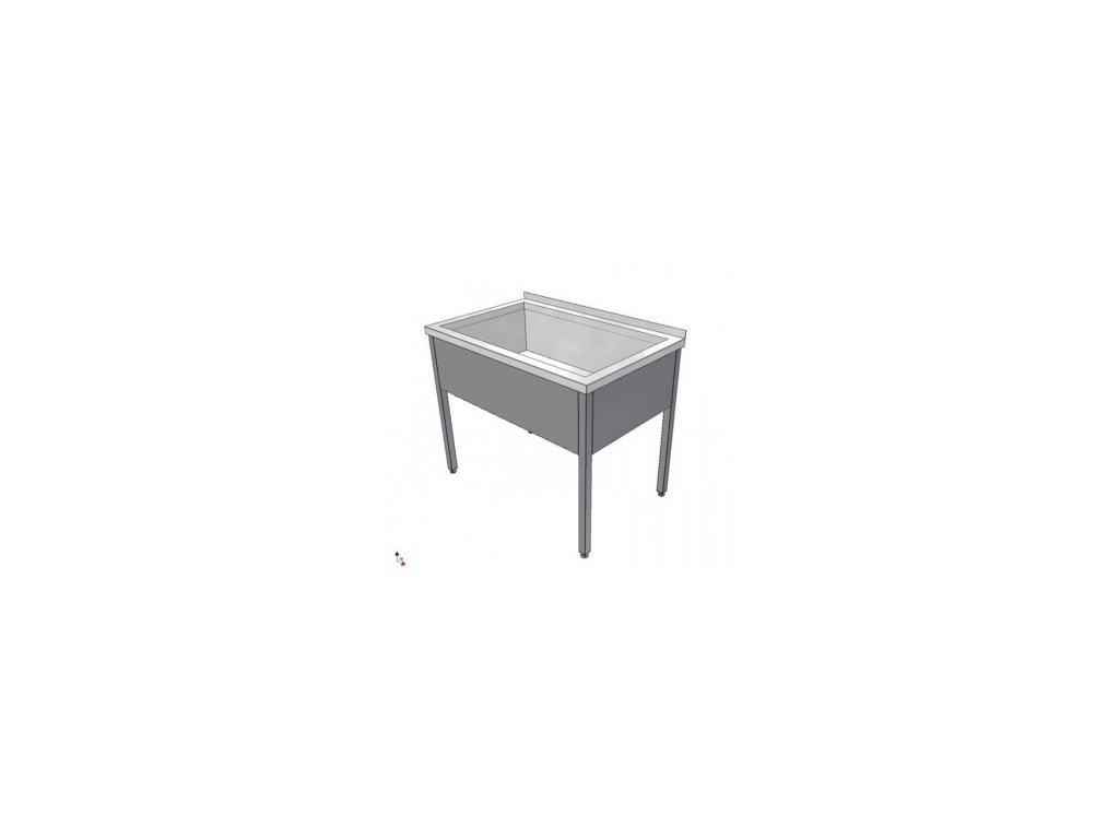 Nerezový dřez svařovaný 700x700x850  (nerez pro potravinářské účely) - mycí stůl