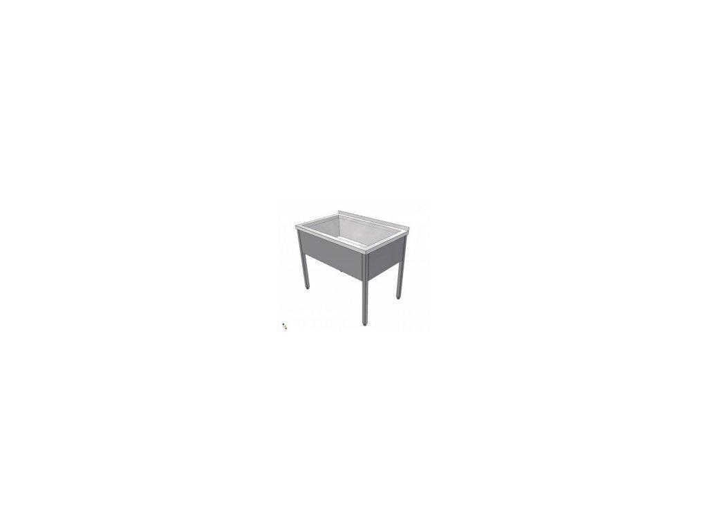 Nerezový dřez svařovaný 700x800x850 (nerez pro potravinářské účely) - mycí stůl