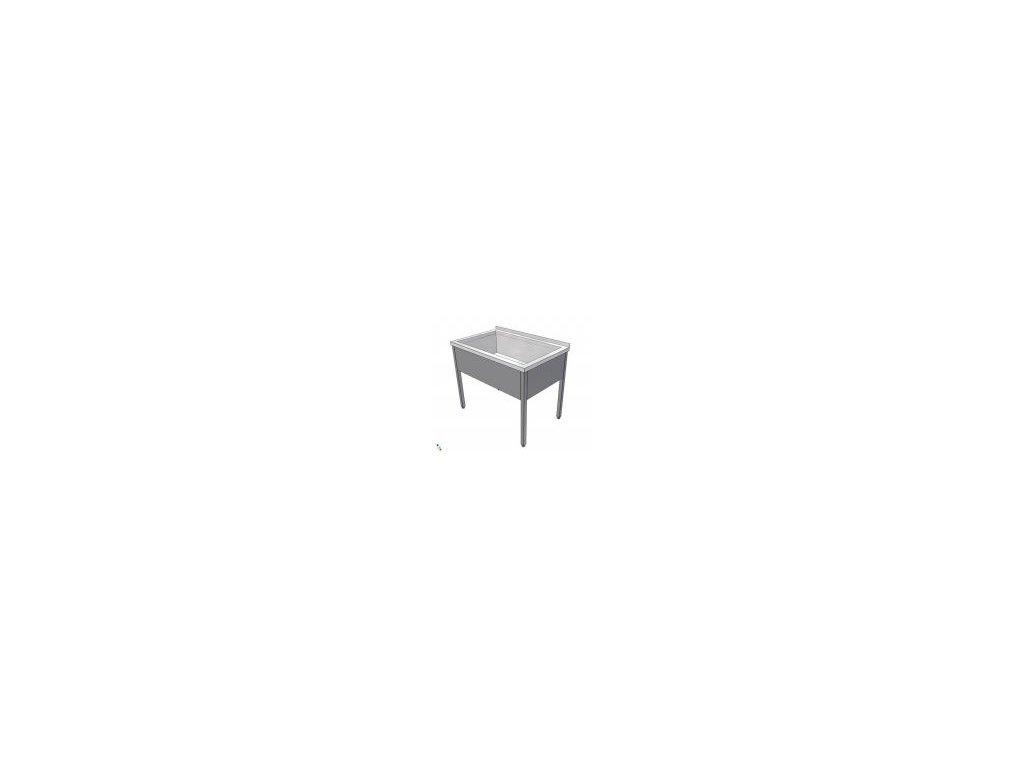 Nerezový dřez svařovaný - vana 1100x700x850 (nerez pro potravinářské účely) - mycí stůl