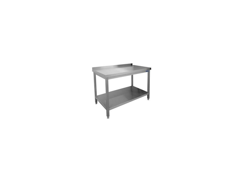 Nerezový pracovní stůl s policí 1000x700x850 (nerez pro potravinářské účely)