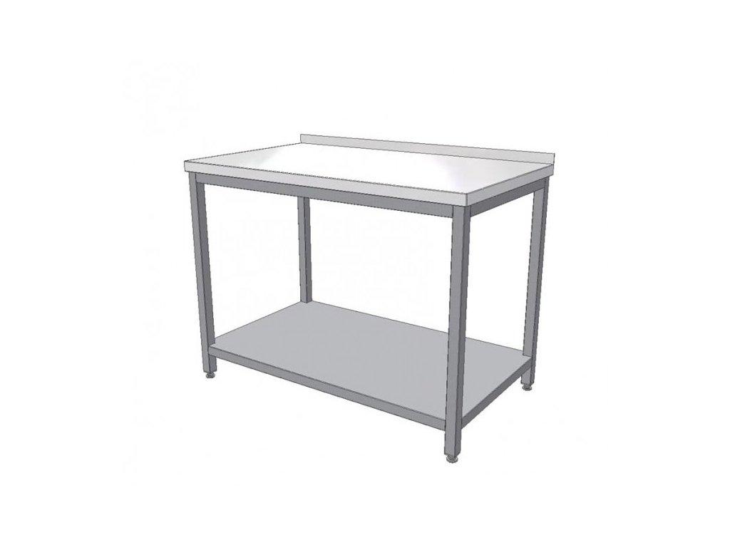 Nerezový pracovní stůl s policí 1200x700x900 (nerez pro potravinářské účely