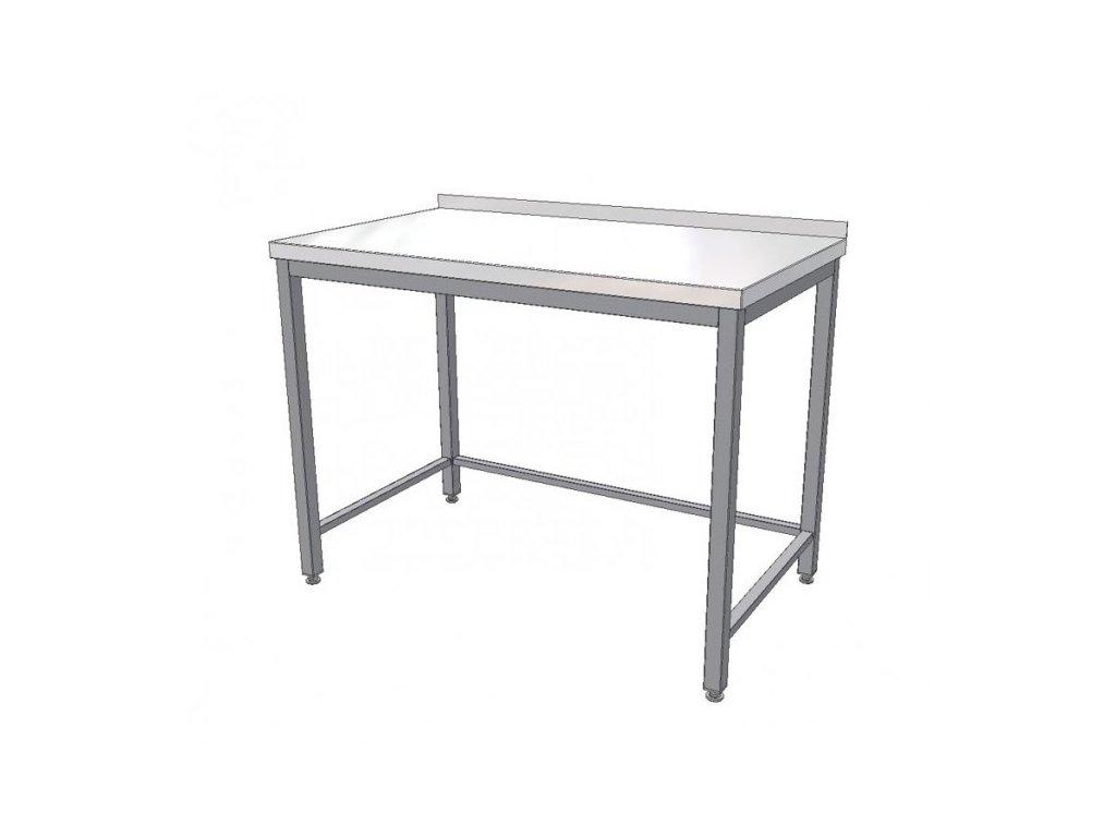 Nerezový pracovní stůl s trnoží 1200x700x900 (nerez pro potravinářské účely)
