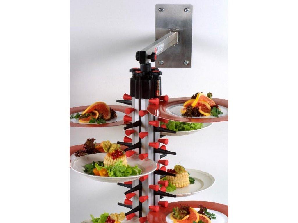 Nástěnný držák na 48 talířů WM 48 - PLATE MATE - držák na talíře