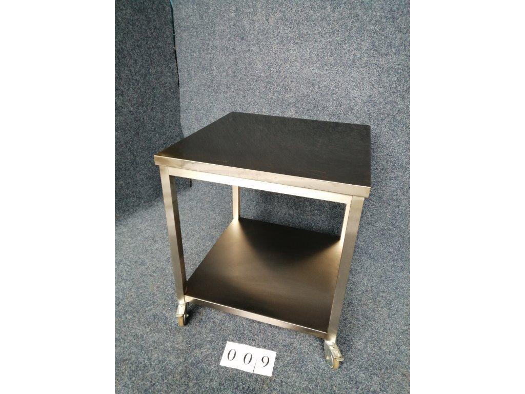 Pracovní stůl, bez lemů, pojízdý, rozměr 800x800x900mm NOVÝ