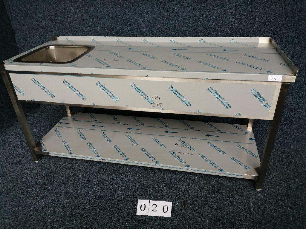Pracovní stůl s dřezem vlevo, rozměr 1900x700x900mm, NOVÝ