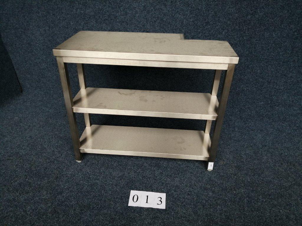 Pracovní stůl dvě police, 1070x340x900mm, NOVÝ, ATYP