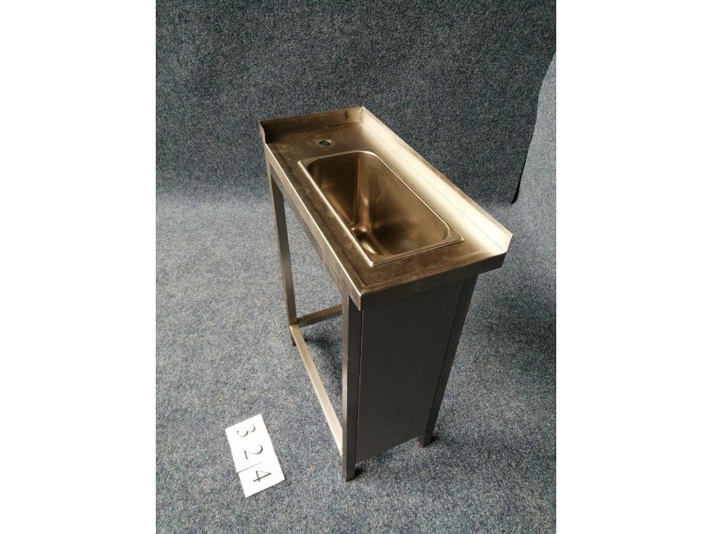 Nerezový stůl s dřezem, rozměr 300x650x850mm