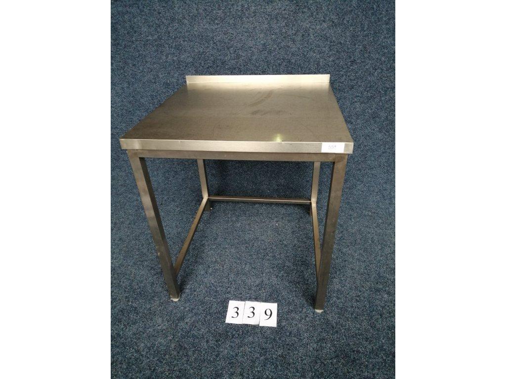Nerezový stůl s trnoží, rozměr 800x800x900mm