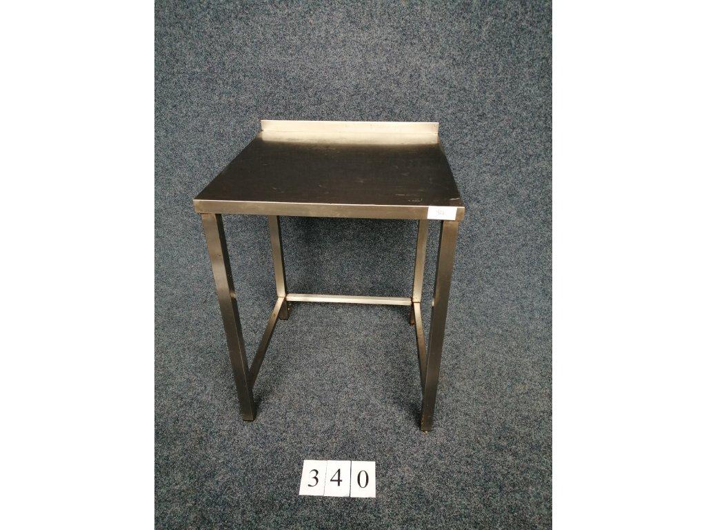 Nerezový stůl s trnoží 700x700x900