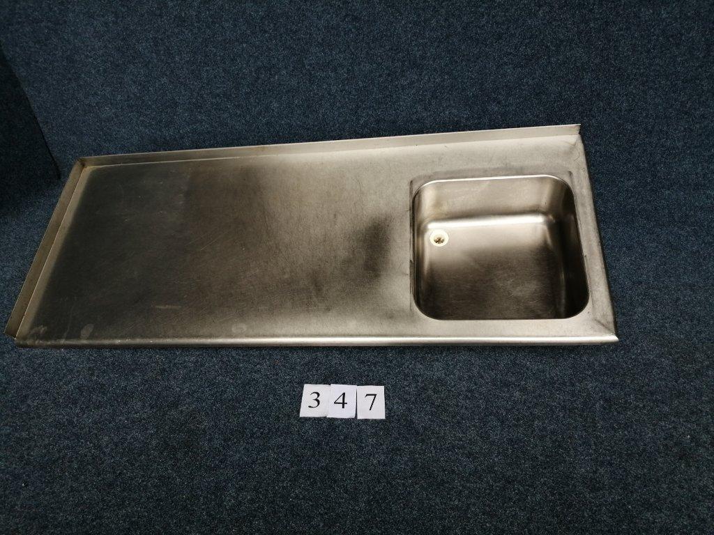 Nerezová deska s dřezem 1860x750x40mm
