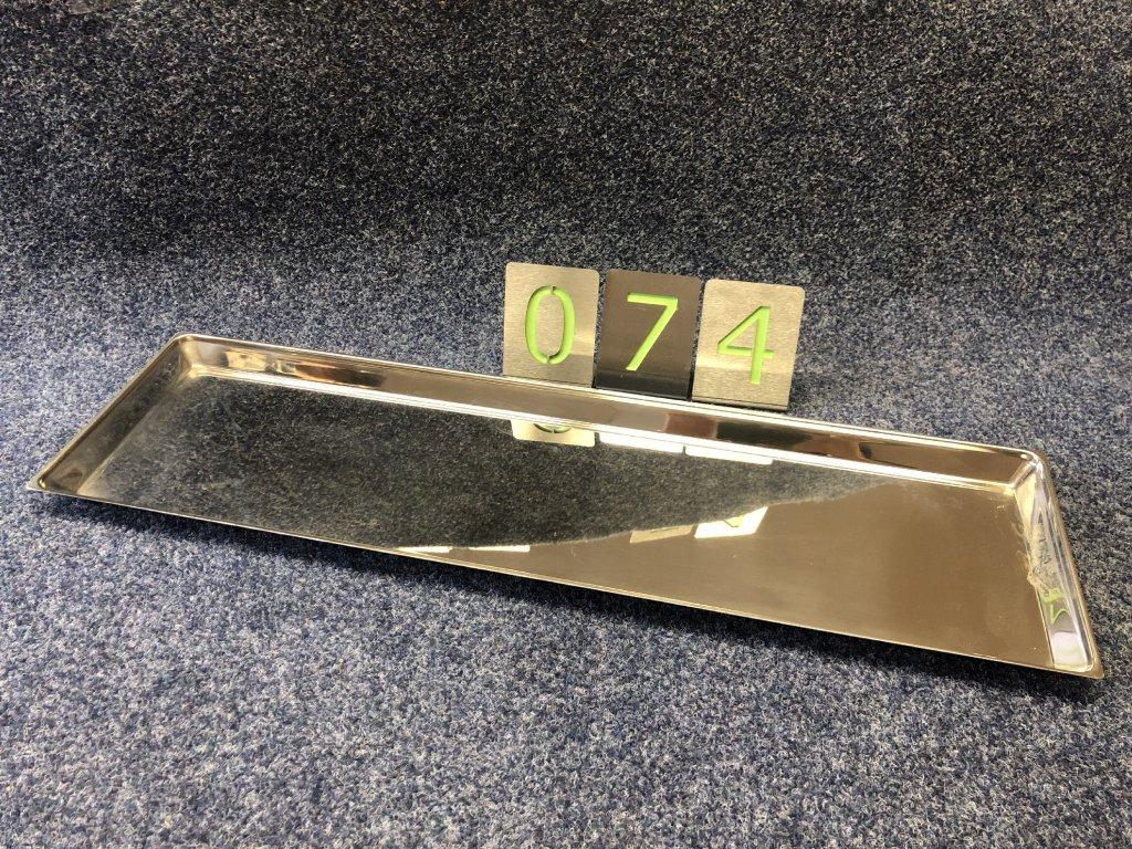Nerezový tác 730x210x30mm, NOVÝ
